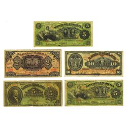 Banco De Coahuila and Banco De Guanajuatoca. 1908-1914 Issues.