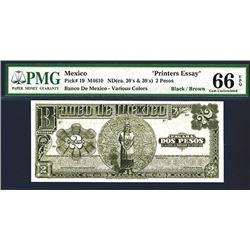 Banco de Mexico, ND (ca.1920-30's) Essay Specimen Banknote.