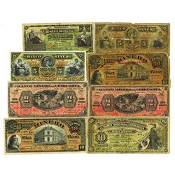 Banco Minero Banknote Assortment, ca.1903-1914.