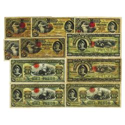 Banco Nacional de Mexico, 1902-1913 ABN Issue Assortment.