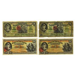 Banco Nacional de Mexico, 1913 Issue Quartet.
