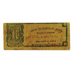 Camara De Commercio De Oaxaca, 1916 Issue Scrip Note.