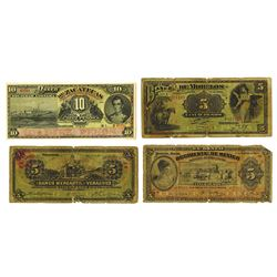 Mexico Banco Assortment, ca.1898 to 1914 Issues.