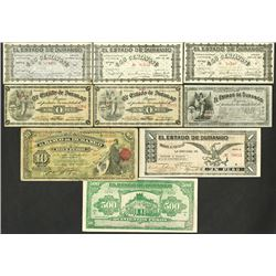 Banco de Durango, Estado de Durango 1914-15 Issues.