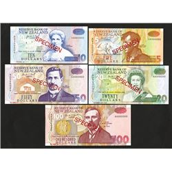 Reserve Bank of New Zealand, 1992-97 ND Issue Specimen Set.