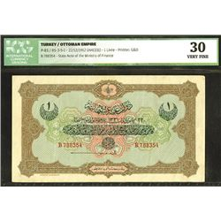 Ottoman Empire, AH1331 (1912) Issued Banknote