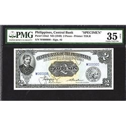 Central Bank of the Philippines Specimen Note. 1949.