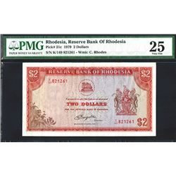 Reserve Bank of Rhodesia, 1979 Issue Banknote.