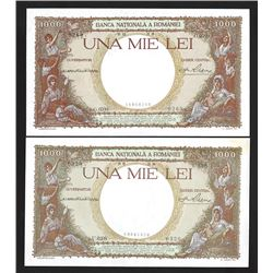Banca Nationala A Romaniei, 1936 and 1938 Issued Banknotes.