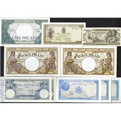 Banca Nationala A Romaniei, 1941 and 1947 Issued Banknotes.