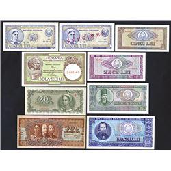 Ministerul Finantelor & Republica Populara Romana Banknote Assortment.