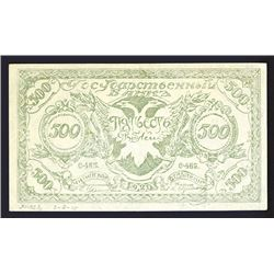 Government Bank, Chita Branch, 1920 Issue Note