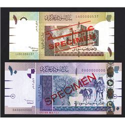 Central Bank of Sudan, 2006 Pair of Specimen Notes