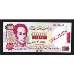 Banco Central de Venezuela. 1991 Issue.