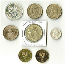 Poland, 1933-2007, Group of 8 Coins