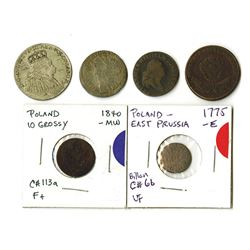 Poland, Different Rulers, Group of Mostly 18th Century Coins
