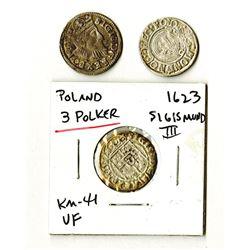 Poland, Sigismund III, 1594-1623, Trio of Trojak Coins