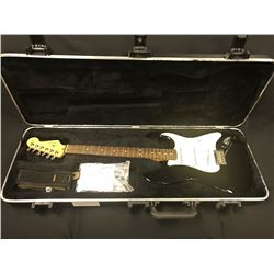 FENDER STRATOCASTER ELECTRIC GUITAR, BLACK, MADE IN USA