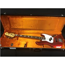 FENDER JAZZ 4-STRING ELECTRIC BASS GUITAR, 70'S HOT ROD RED, MADE IN USA