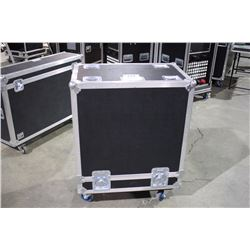 CUSTOM 2 GUITAR HEAD ROAD CASE, 27'' X 28'' X 17'', FOR 2 AMPEG OR SIMILAR SIZE HEADS