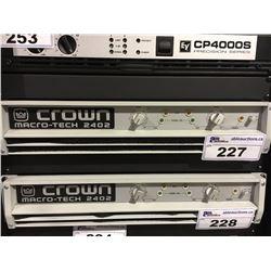 CROWN MACRO-TECH 2402 PROFESSIONAL STEREO POWER AMPLIFIER