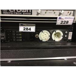 MOTION LABORATORIES CUSTOM BUILT 125/250 VAC SINGLE PHASE, 60 HZ, 4X 20 AMP RACK PACK