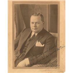 Roscoe 'Fatty' Arbuckle Signed Photograph