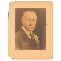 Adolph Zukor Signed Photograph