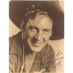 Westerns: George O'Brien Oversized Signed Photograph