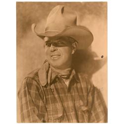 Westerns: Hoot Gibson Oversized Signed Photograph