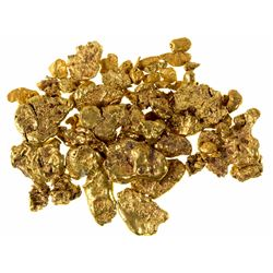 Selection of Large and Small Placer Gold from the North Fork of the Yuba River