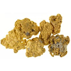 Six Larger Gold Nuggets from the El Paso Mountains