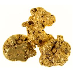 Three Different Shaped Randsburg Gold Nuggets
