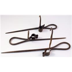 Three Varney Style Candlesticks