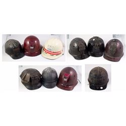 Collection of 10 Miners Hardhats
