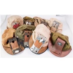 Eight Cloth Carbide Lamp Hats