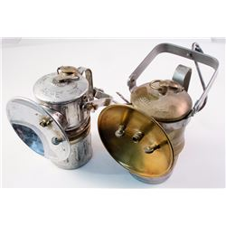Two Nice Superintendent Style Carbide Lamps (Acme and Big Boy)