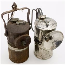 Two Acme Superintendent Size Carbide Lamps