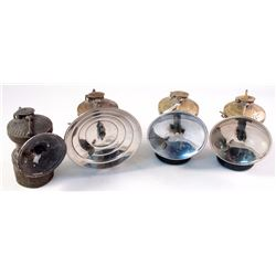 Four Autolite Brass Carbide Lamps