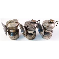 Three Newer Autolite Carbide Lamps