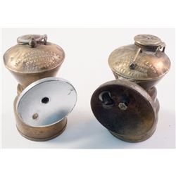 Two Baldwin Small Size Carbide Lamps