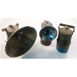 Three Big Boy Superintendent-Style Carbide Lamps