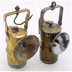 Two Different Big Boy Superintendent Style Carbide Lamps