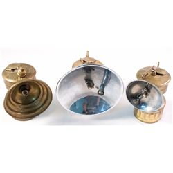 Three Butterfly Brass Carbide Lamps