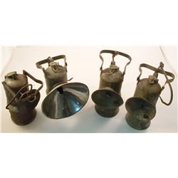 Four Different Dewar Superintendent-Style Lamps