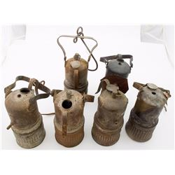 Six Dewar Superintendent-Style Lamps