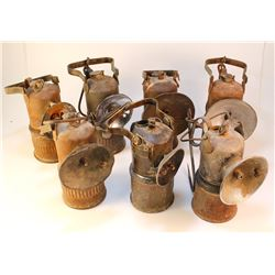 Seven Dewar Superintendent Style Lamps