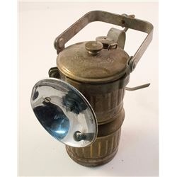 Brass Superintendent-Style Guy's Dropper Carbide Lamp