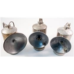 Three ITP Nickel Plated Carbide Lamps