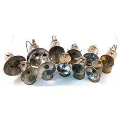 11 Mixed Justrite Carbide Lamps